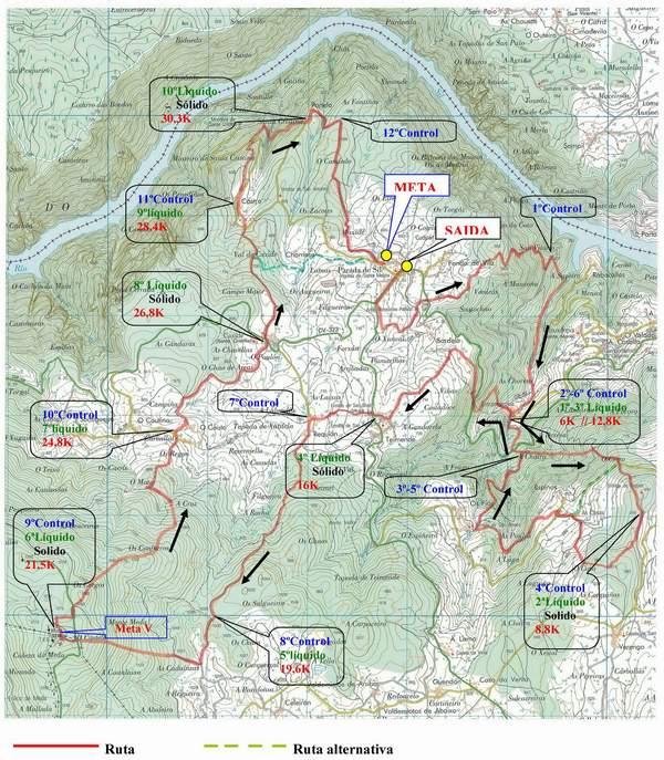 mapa avituallamentos