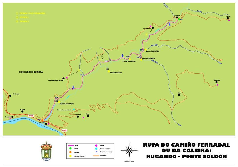 Mapa ruta Quiroga